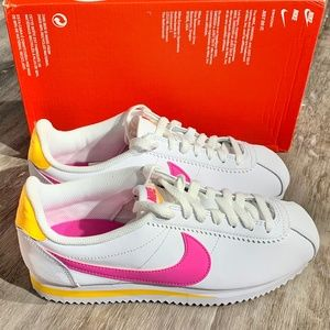 Nike Women's Classic Cortez Leather Sneakers White